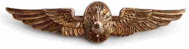 WWII U.S NAVY FLIGHT SURGEON BALFOUR WINGS 10K GF
