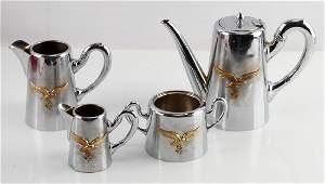 4 PIECE GERMAN WWII LUFTWAFFE OFFICER COFFEE SET