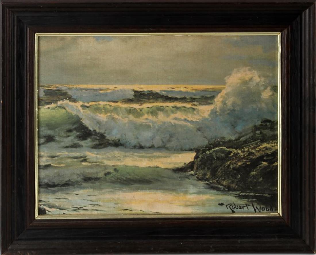 FRAMED ROBERT WOOD SEA SCAPE PRINT