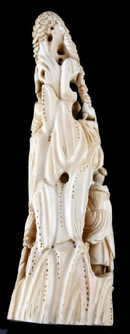 FAUX RESIN IVORY HIGHLY DETAILED DEITY THEMED