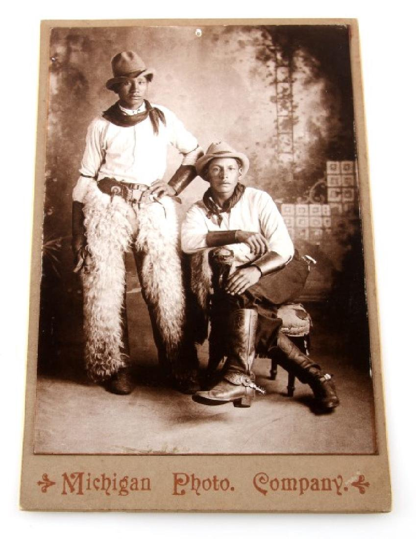 MICHIGAN PHOTO STUDIO CARD  2 NEGRO BOYS