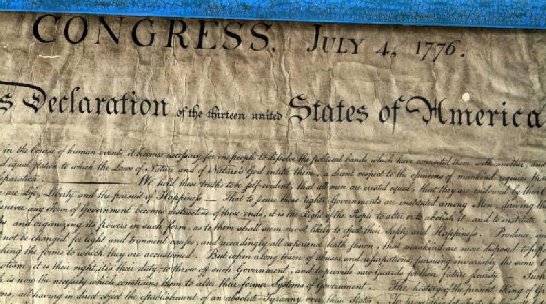 DECLARATION OF INDEPENDENCE 1776 PRINT FACSIMILE