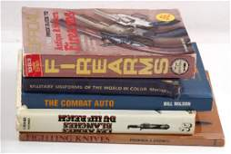 LOT OF 6 MILITARY UNIFORM & WEAPON BOOKS