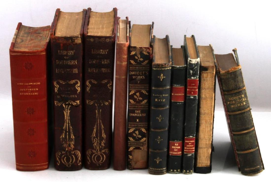 LOT 10 ANTIQUE ENGLISH & FOREIGN LANGUAGE BOOKS