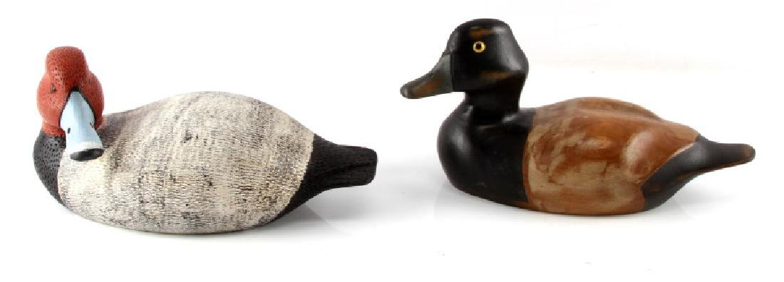 LOT OF TWO VINTAGE DUCK DECOYS H & RON FISHER