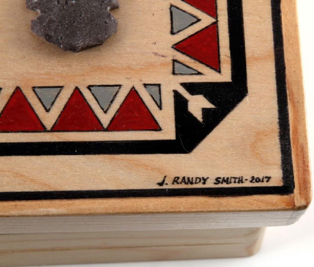 RANDY SMITH HAND MADE WOODEN ARROWHEAD DECOR BOX