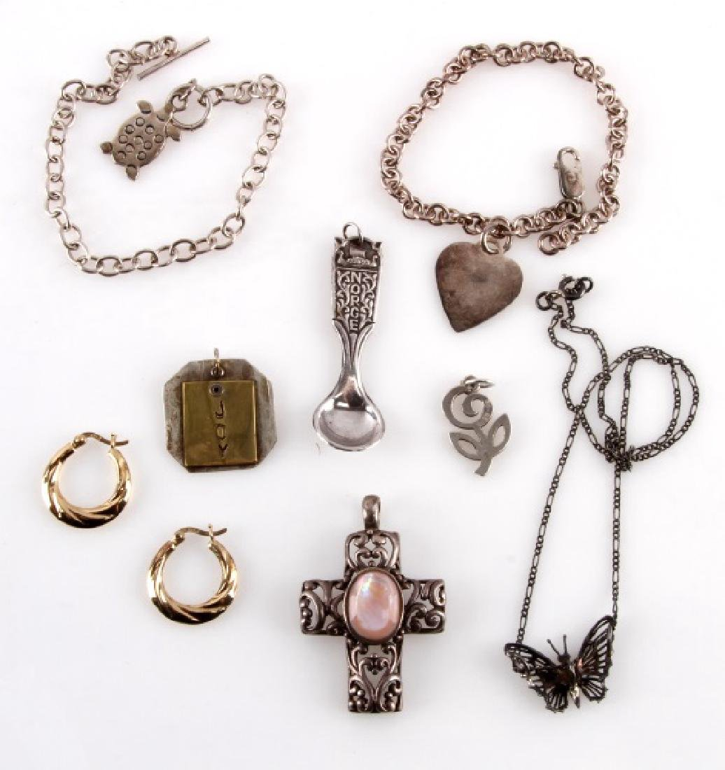 ASSORTED STERLING SILVER 925 VINTAGE JEWELRY