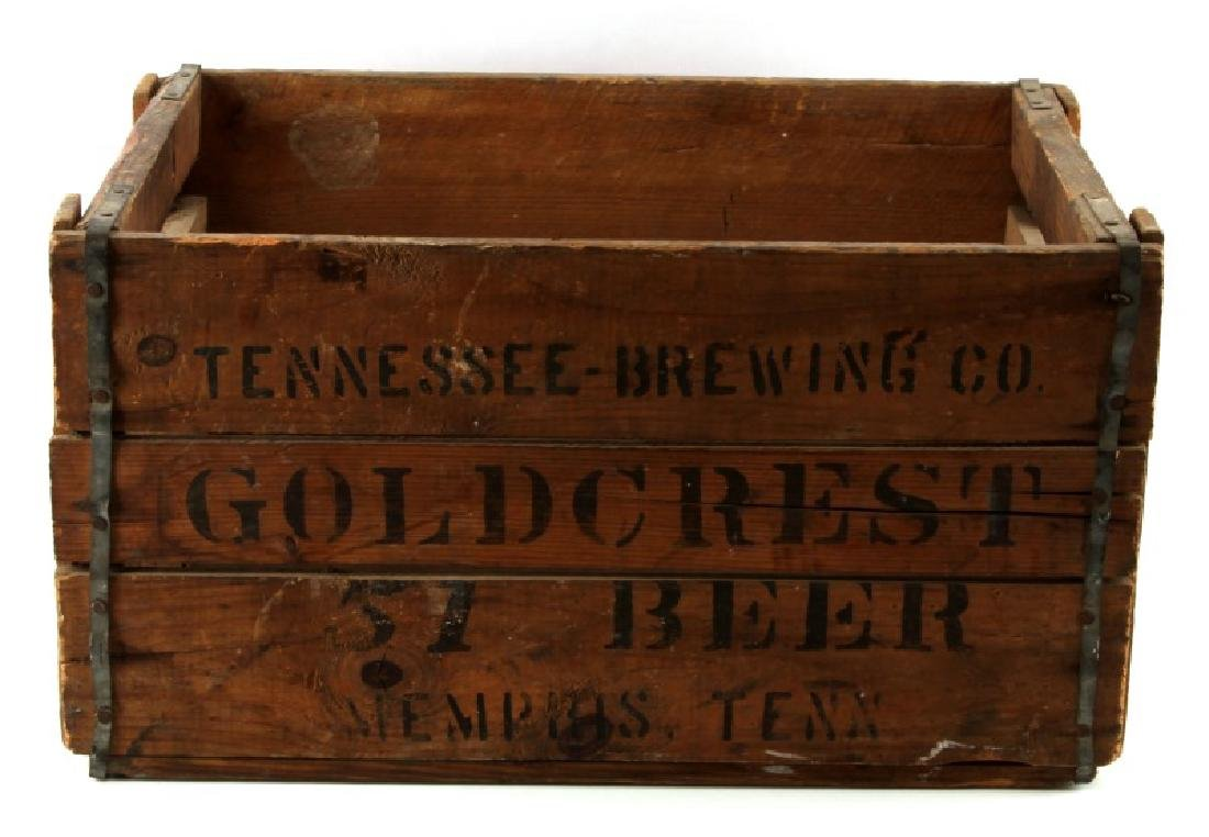 TENNESSEE BREWING CO GOLD CREST ANTIQUE BEER CRATE