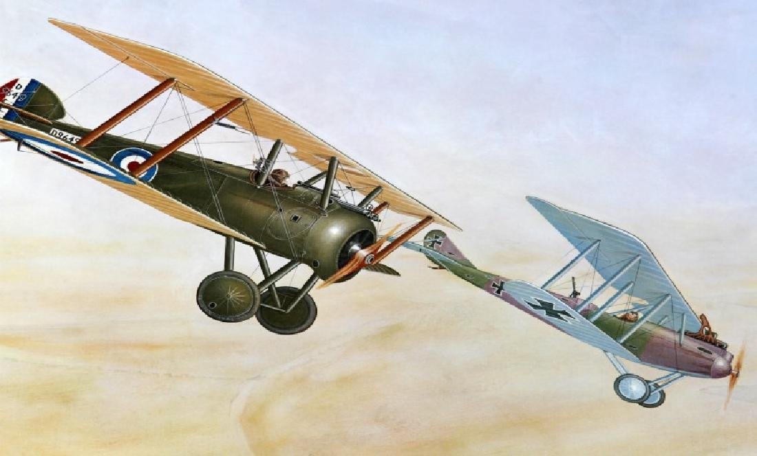 3 PRINTS OF WAR PLANES FROM WWI & WWII BY FICKLEN