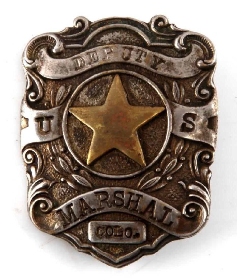 DEPUTY U.S. MARSHALL COLO. OBSOLETE BADGE