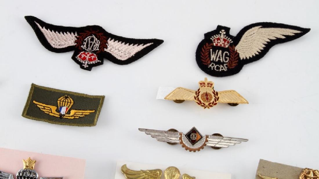 ASSORTED LOT OF 24 MILITARY WING BADGES