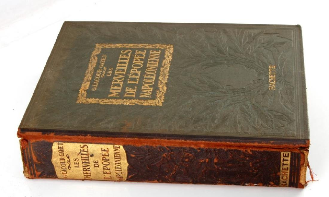 ANTIQUE HARDCOVER FRENCH BOOK NAPOLEONIC CONQUEST