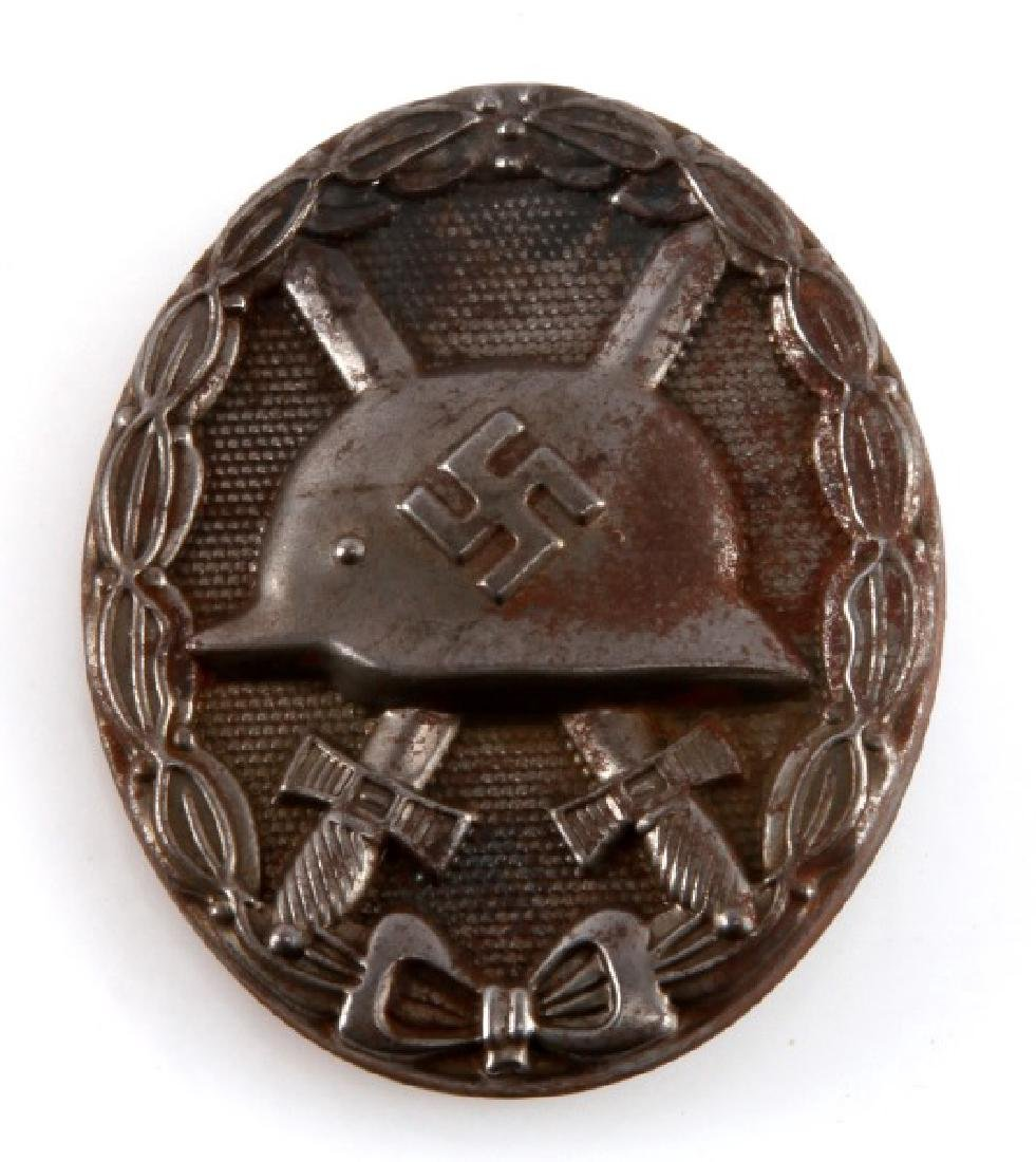 WWII GERMAN STAMPED TYPE SILVER WOUND BADGE
