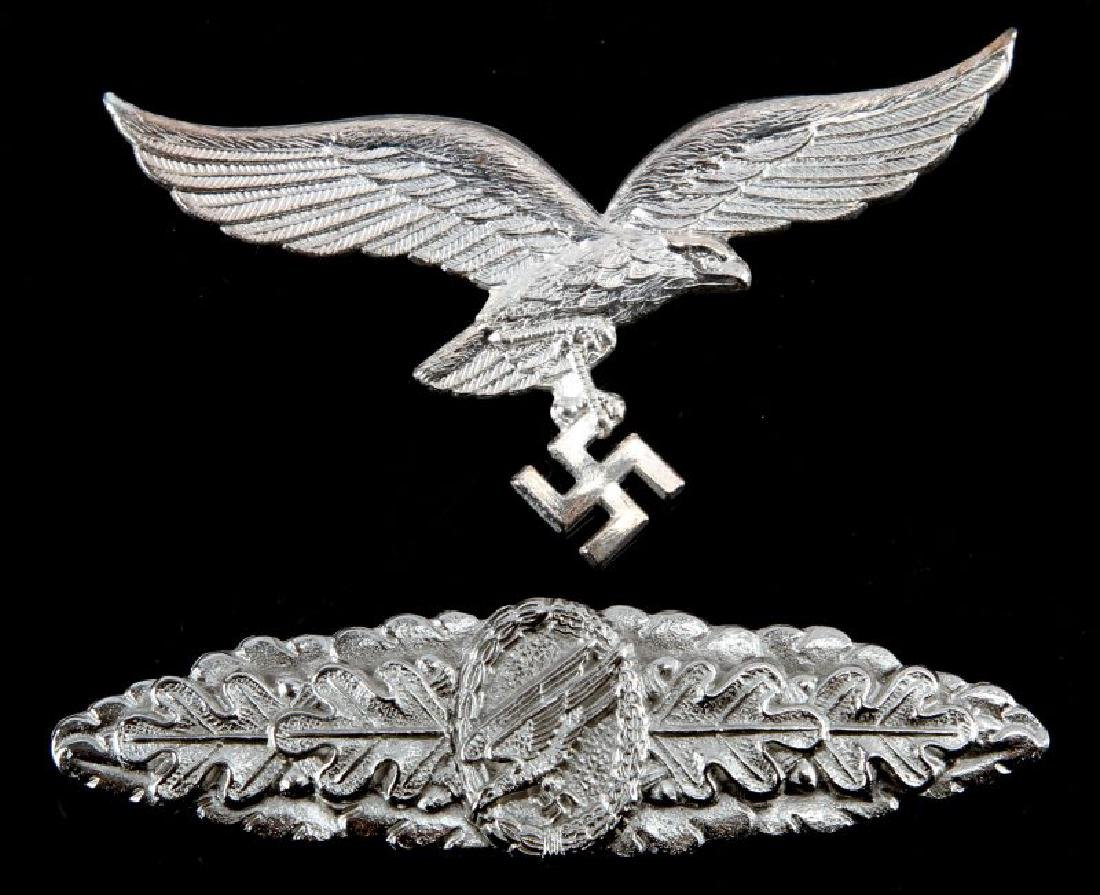 GERMAN LUFTWAFFE PARATROOPER CLASP & CAP EAGLE