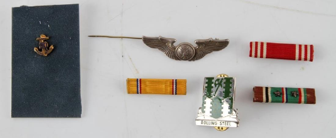 US WWII PILOTS WINGS STERLING SILVER MEDALS PINS