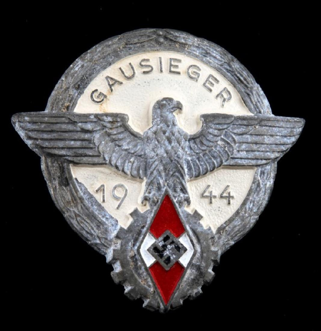 WWII GERMAN 3RD REICH HITLER YOUTH GAUSIEGER BADGE