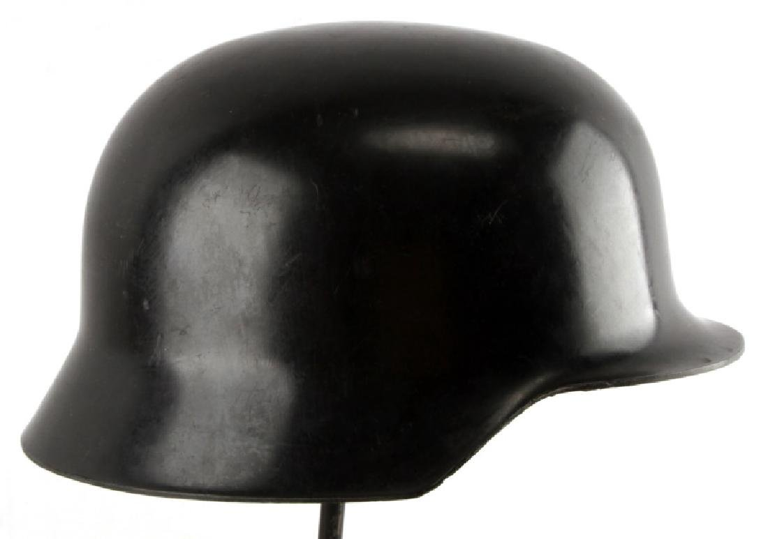 REPRODUCTION GERMAN M42 HELMET BLACK PLASTIC