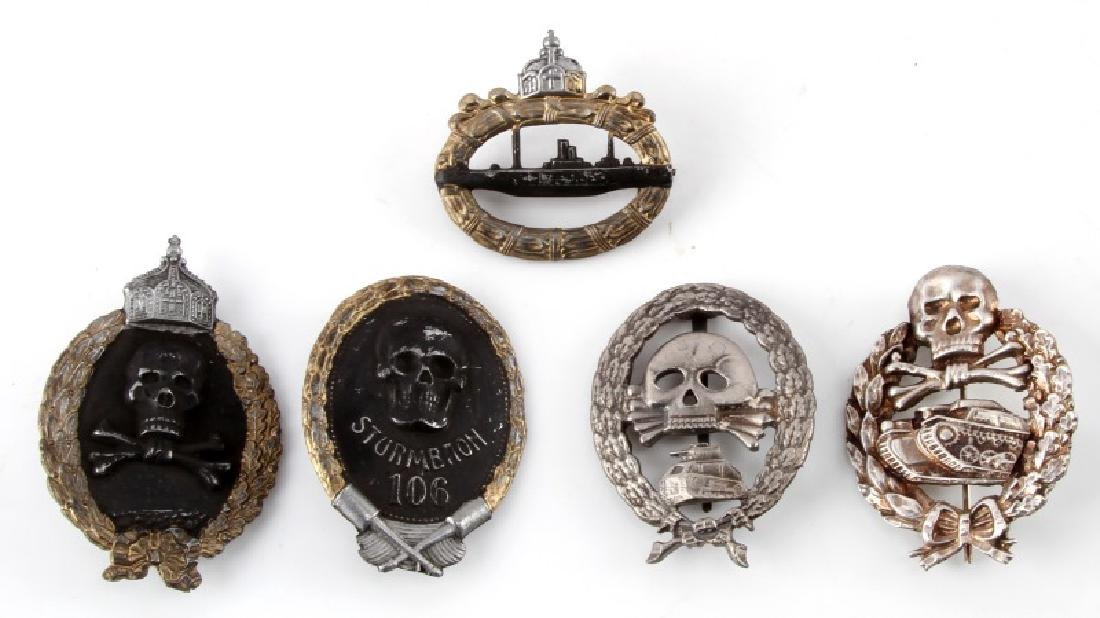 LOT OF 5 GERMAN WWII IMPERIAL MILITARY BADGES