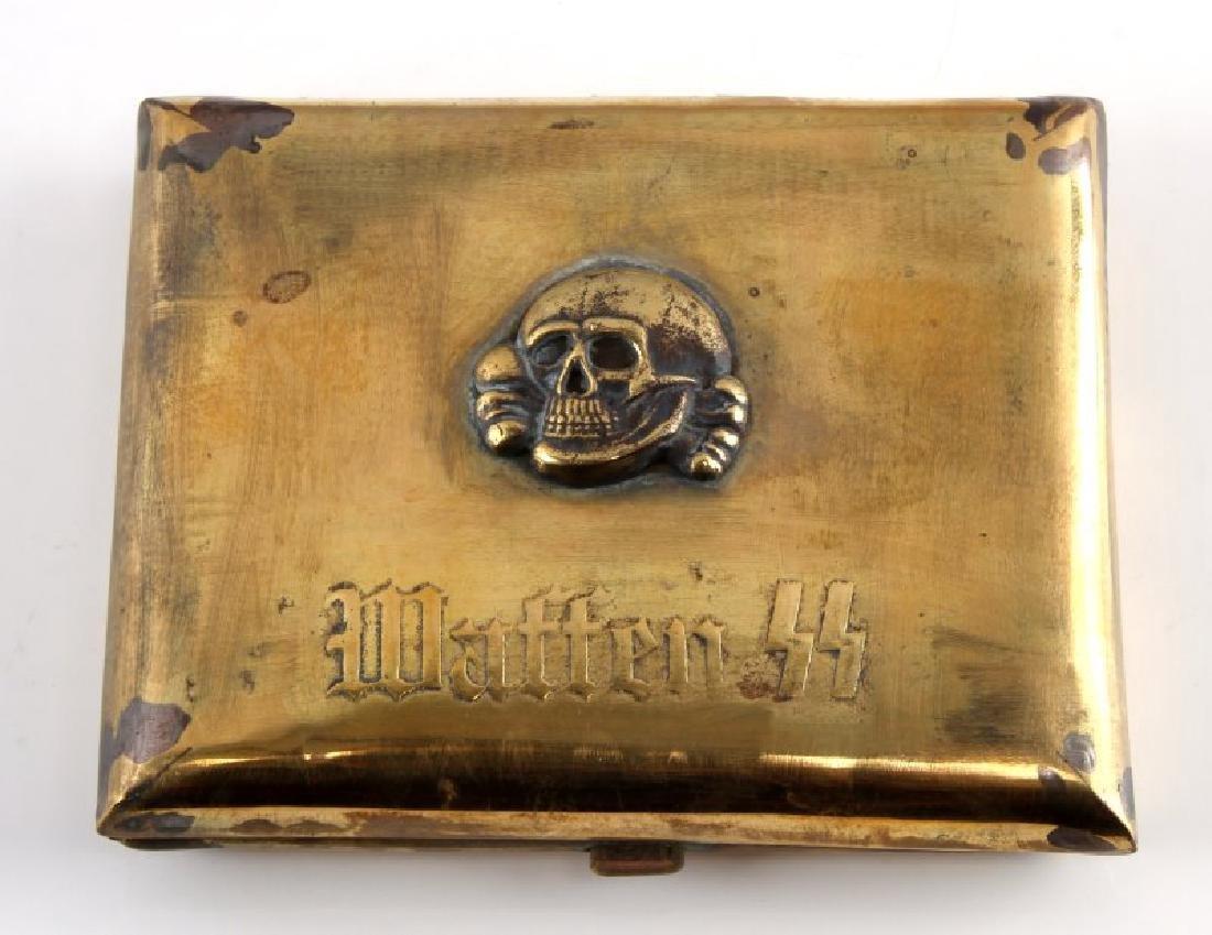 WWII THIRD REICH WAFFEN SS PANSER CIGARETTE CASE