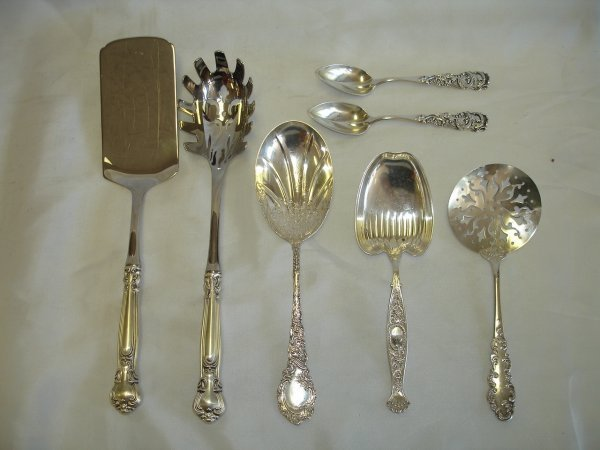 STERLING SILVER SERVING LOT GORHAM WHITING DUHME
