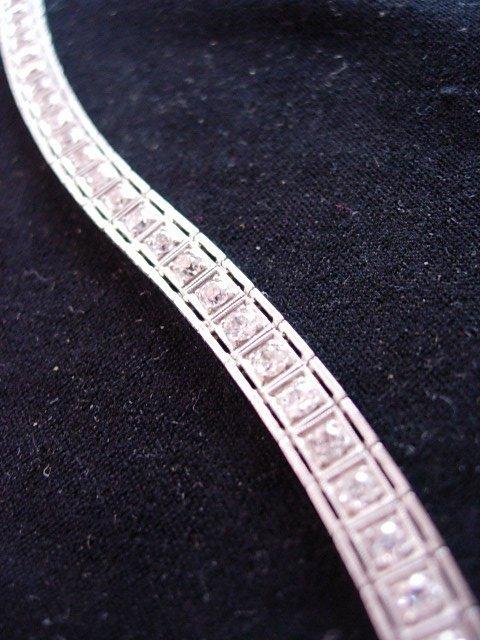 PLATINUM 4.20CT DIAMOND TENNIS BRACELET
