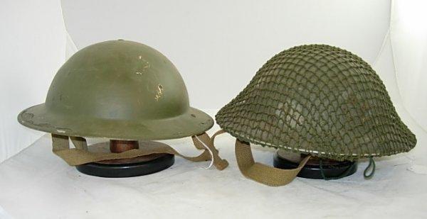 WWII DOUGH BOY MILITARY HELMET LOT OF 2
