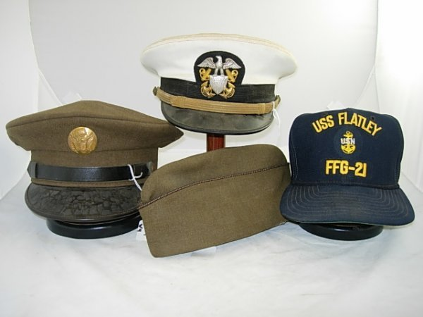 WWII US MILITARY CAPS UNITED STATES ARMY NAVY LOT