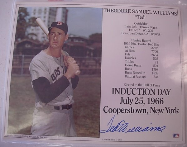 AUTOGRAPHED COOPERSTOWN INDUCTION DAY PHOTOGRAPHS