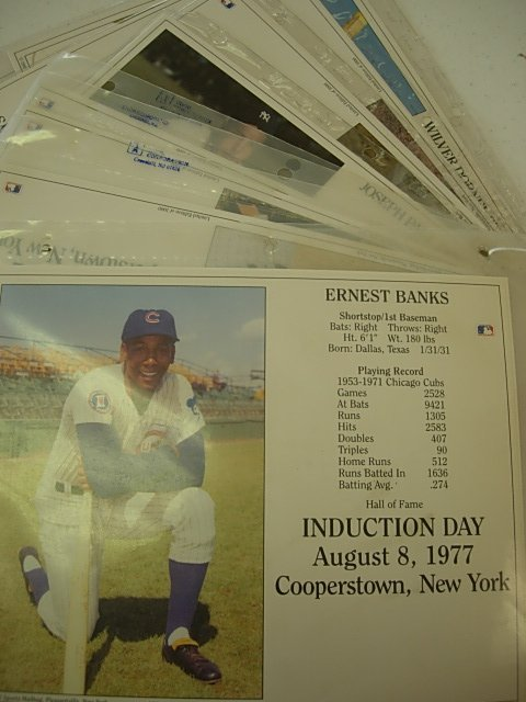 INDUCTION DAY PHOTO AND CEREMONY CARDS LOT OF 16
