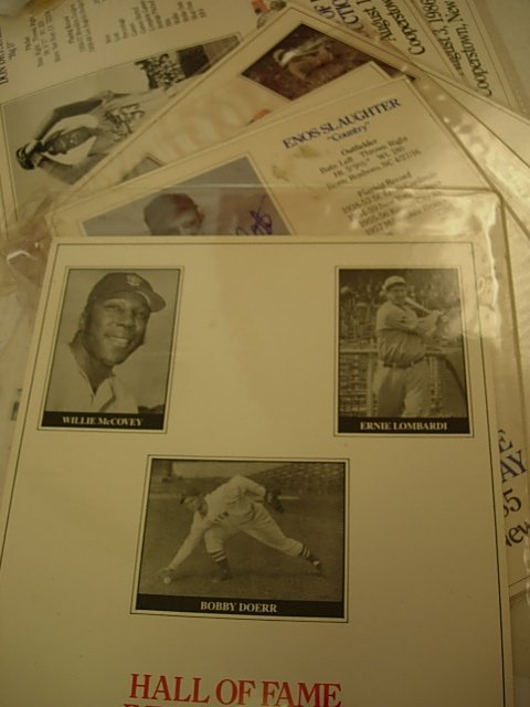 HALL OF FAME INDUCTION CARDS WITH PHOTO SIGNED