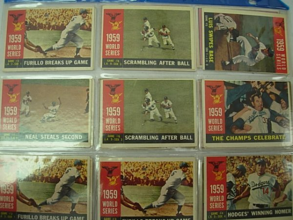 1958 1959 1960 TOPPS WORLD SERIES CARDS