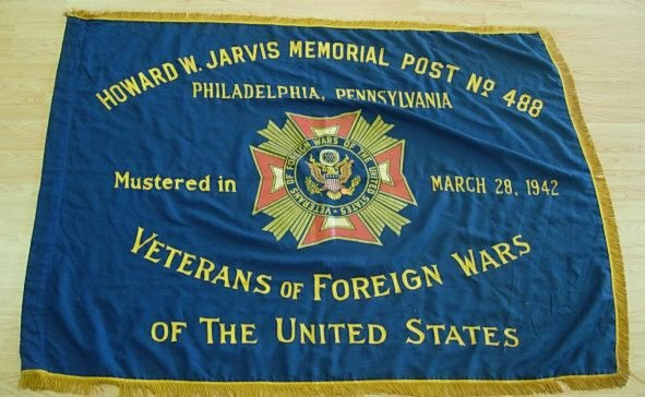 WWII US VFW PHILADELPHIA PA  FLAG BANNER