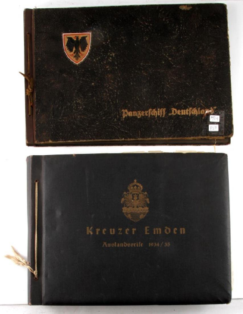 2 PRE AND EARLY WWII GERMAN REICH PHOTO ALBUMS