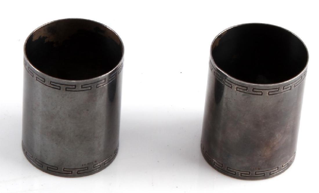 2 ADOLF HITLER FORMAL NAPKIN RINGS IN 800 SILVER - 4