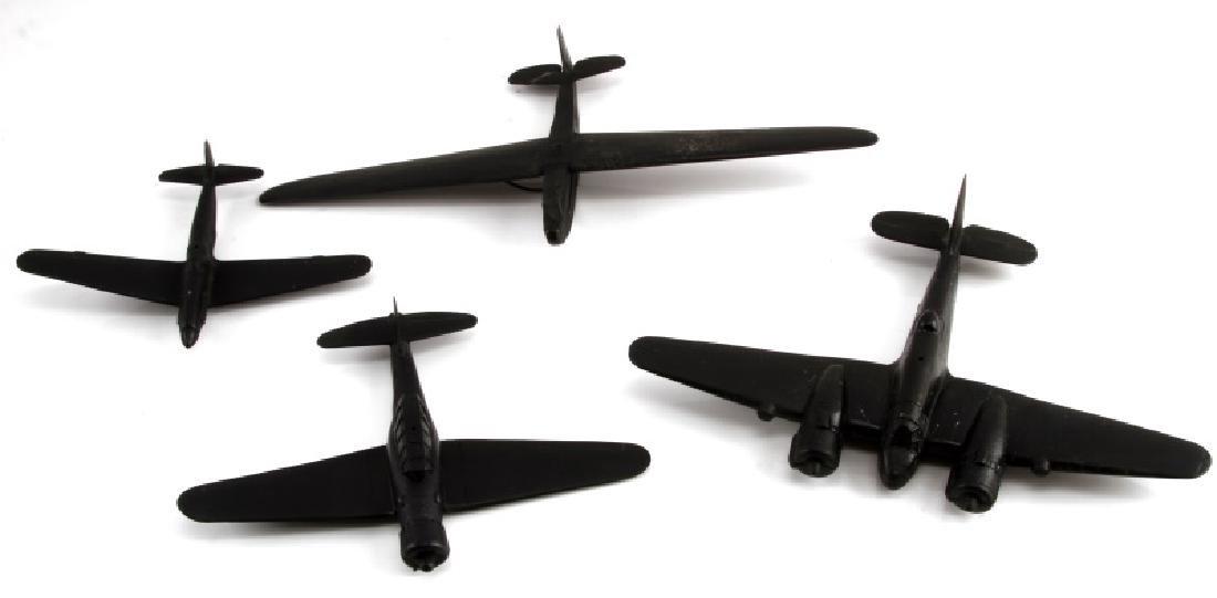 LOT 4 WWII BLACK ACETATE RECOGNITION MODEL PLANES