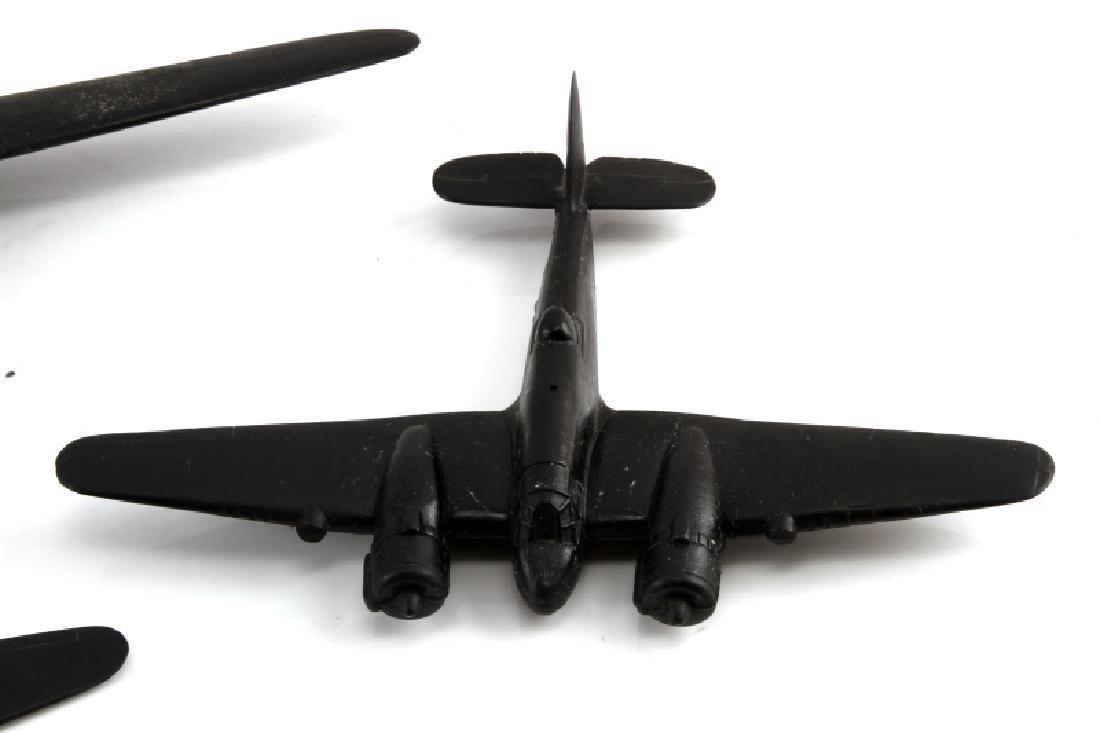 LOT 4 WWII BLACK ACETATE RECOGNITION MODEL PLANES - 5