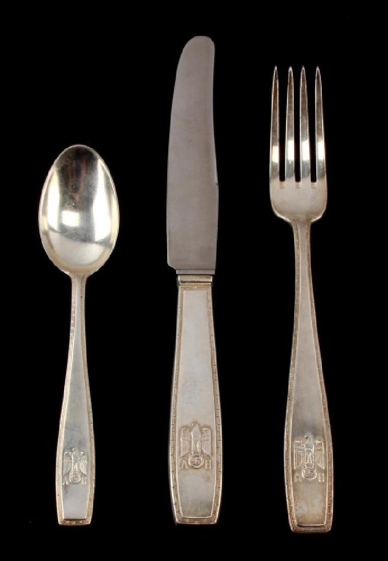 ADOLF HITLER PERSONAL DINNERWARE SET FROM BERGHOF