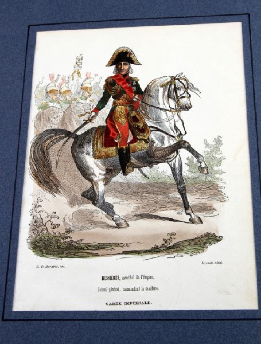 6 HAND COLORED NAPOLEONIC ARMY LACOSTE ENGRAVINGS - 2