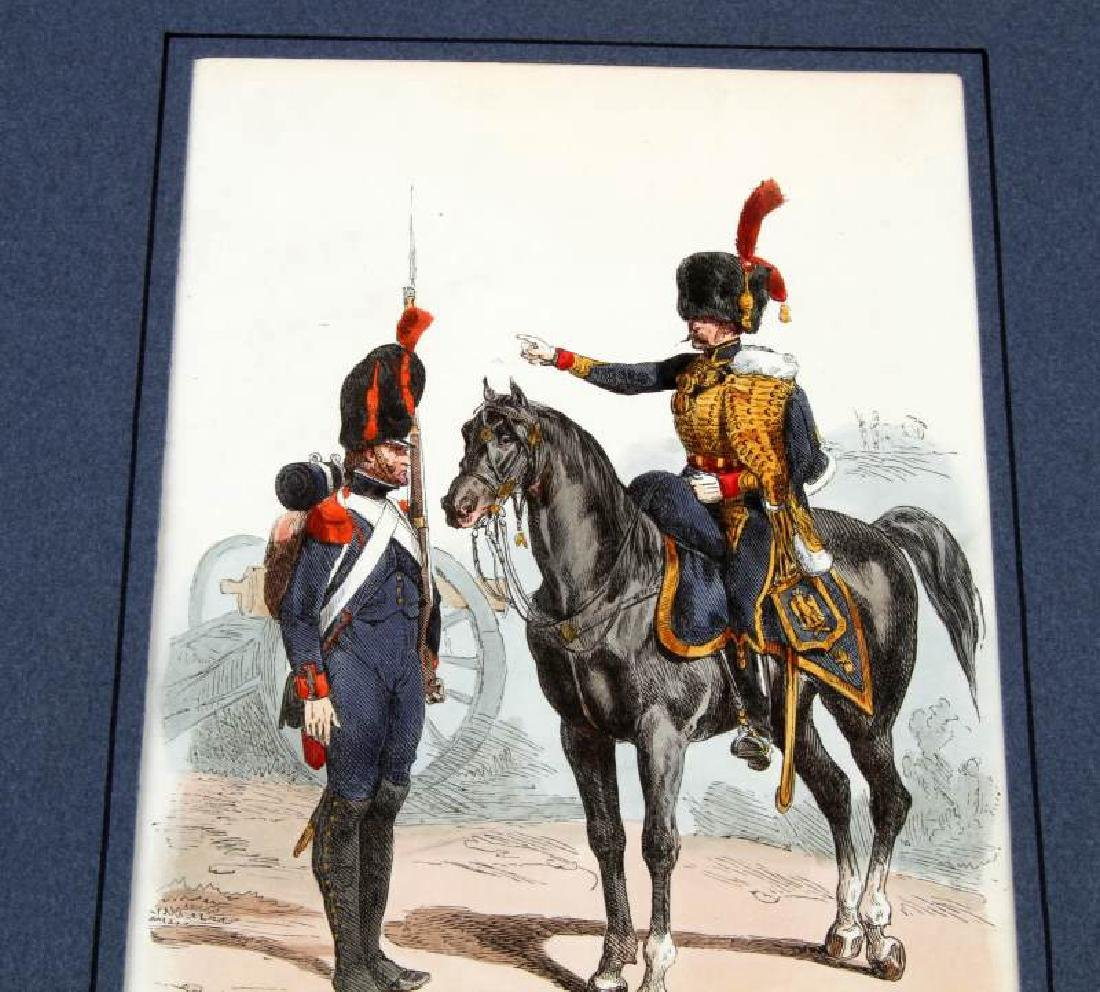 6 HAND COLORED NAPOLEONIC ARMY LACOSTE ENGRAVINGS - 3