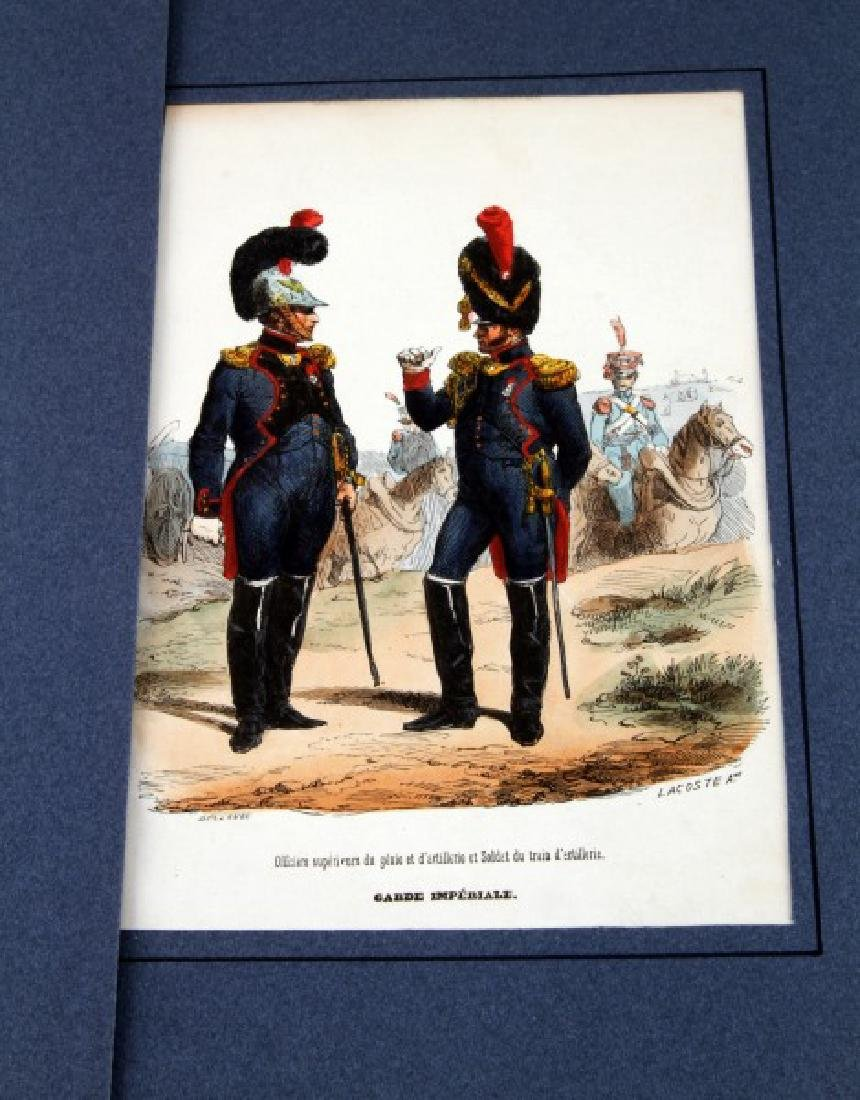 6 HAND COLORED NAPOLEONIC ARMY LACOSTE ENGRAVINGS - 4