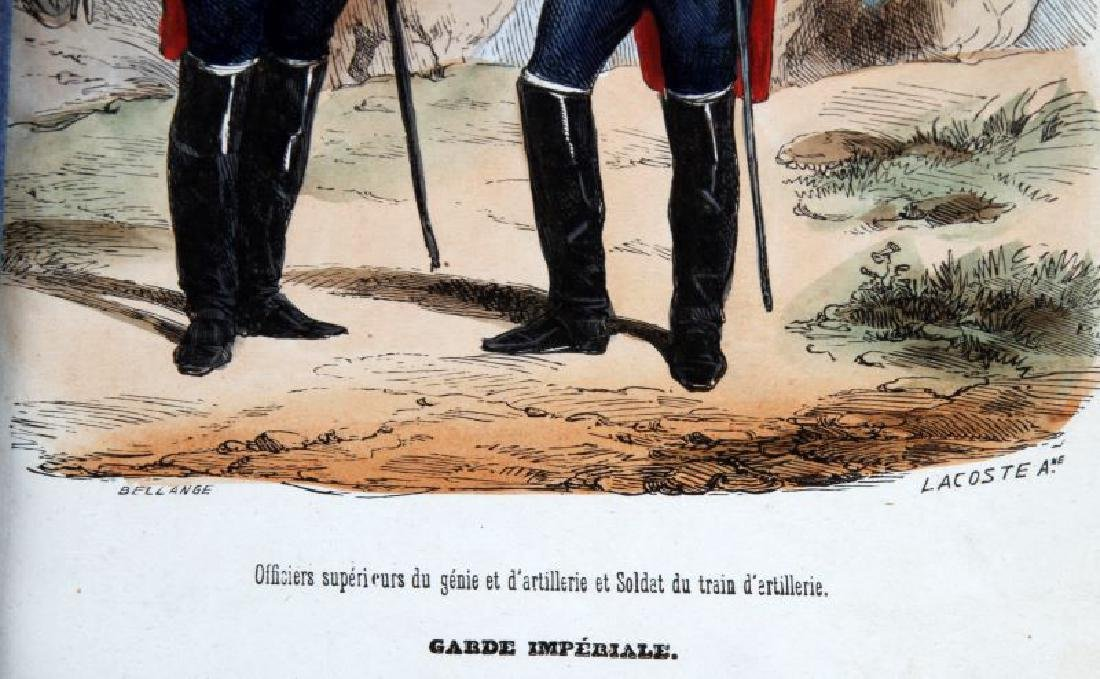 6 HAND COLORED NAPOLEONIC ARMY LACOSTE ENGRAVINGS - 5