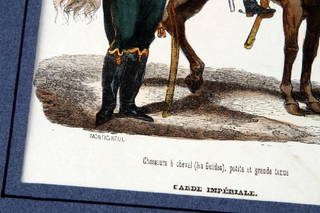 6 HAND COLORED NAPOLEONIC ARMY LACOSTE ENGRAVINGS - 6