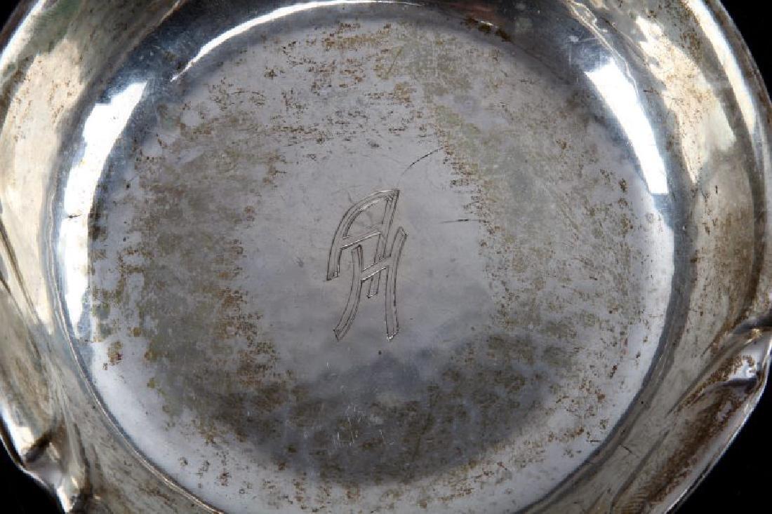 WWII ADOLPH MONOGRAMMED TRINKET DISH 800 SILVER - 2