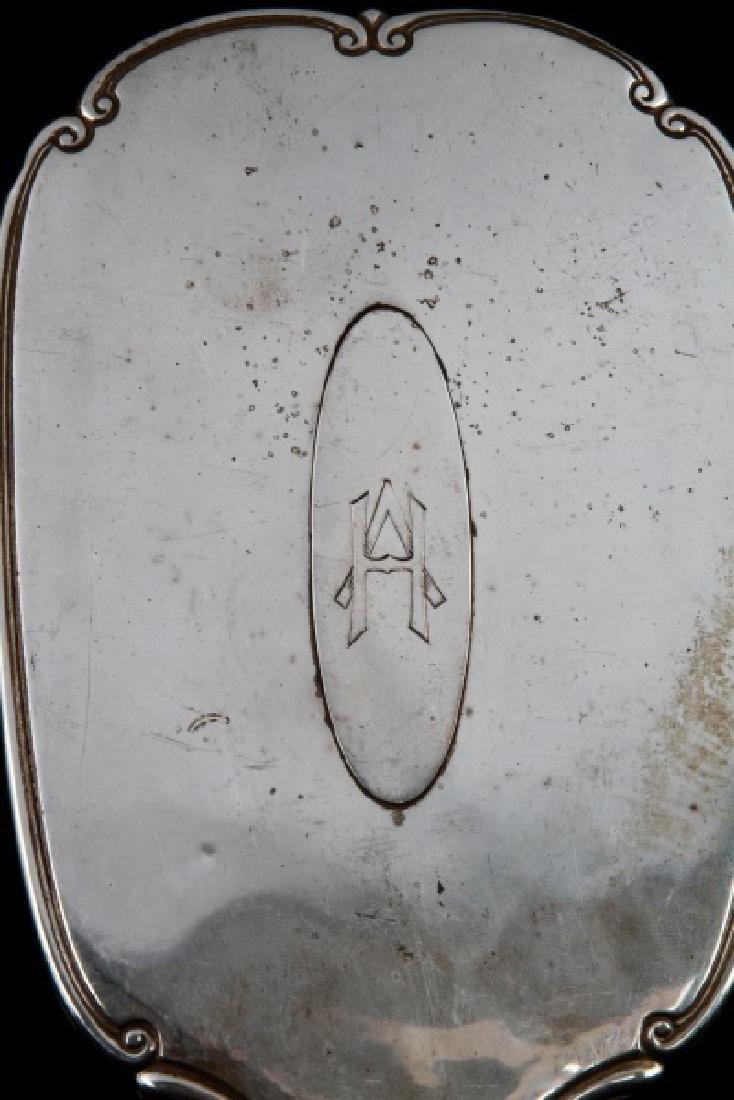 ADOLF HITLER MONOGRAMMED SILVER HAND MIRROR - 3