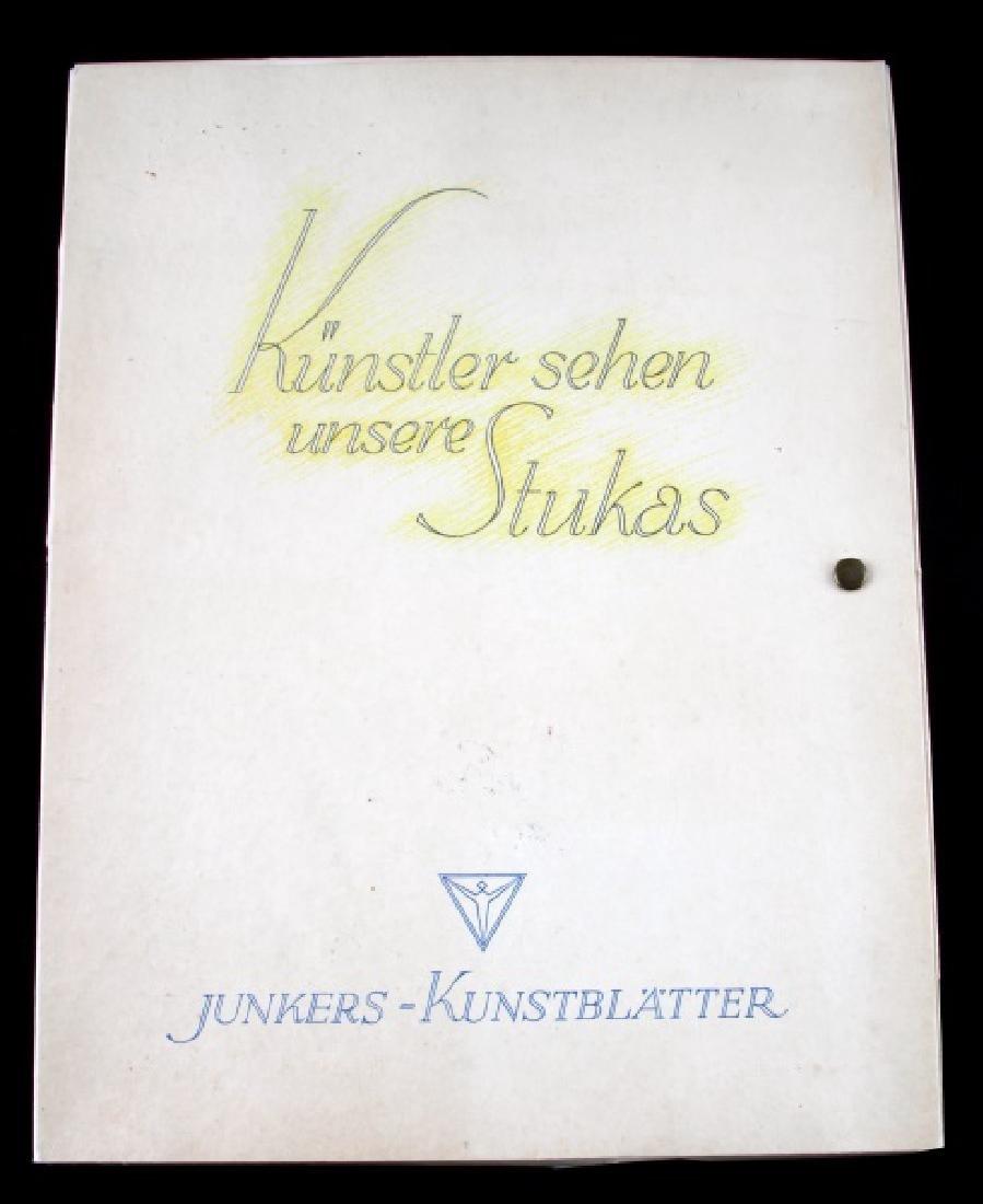 WWII JUNKERS KUNSTBLATTER SUPERB AIRCRAFT PRINTS - 10