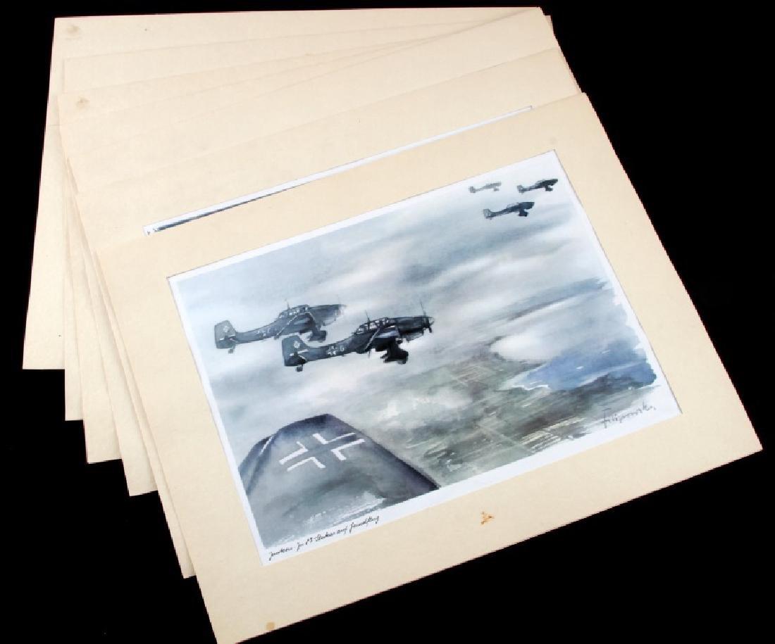 WWII JUNKERS KUNSTBLATTER SUPERB AIRCRAFT PRINTS
