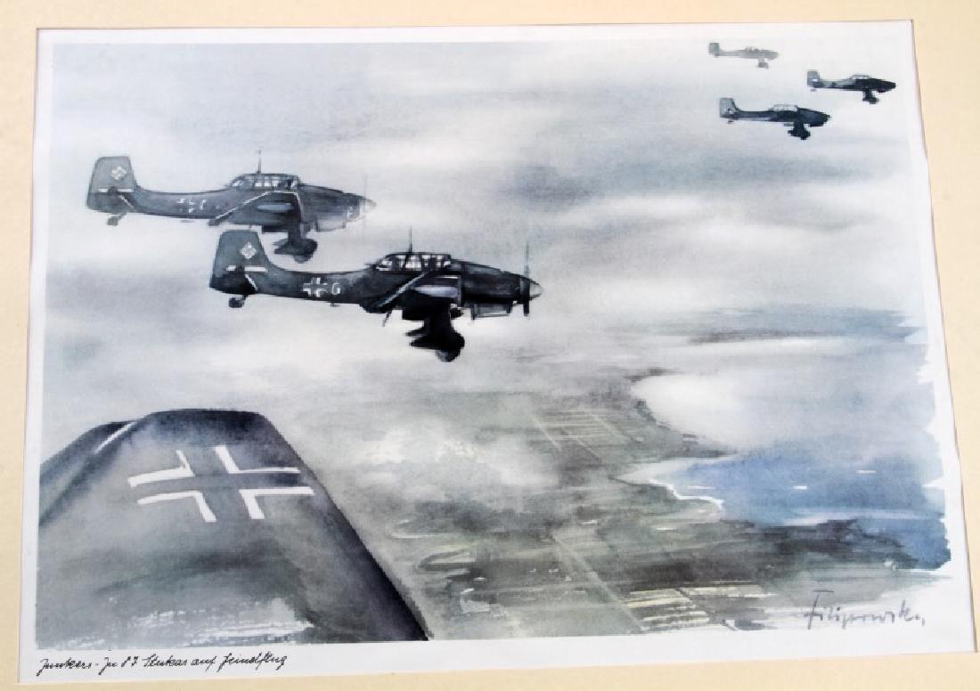 WWII JUNKERS KUNSTBLATTER SUPERB AIRCRAFT PRINTS - 2