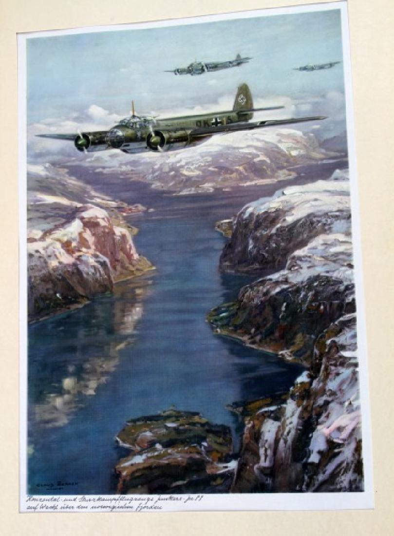 WWII JUNKERS KUNSTBLATTER SUPERB AIRCRAFT PRINTS - 3