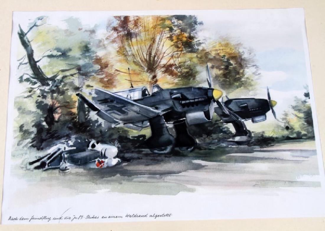 WWII JUNKERS KUNSTBLATTER SUPERB AIRCRAFT PRINTS - 7