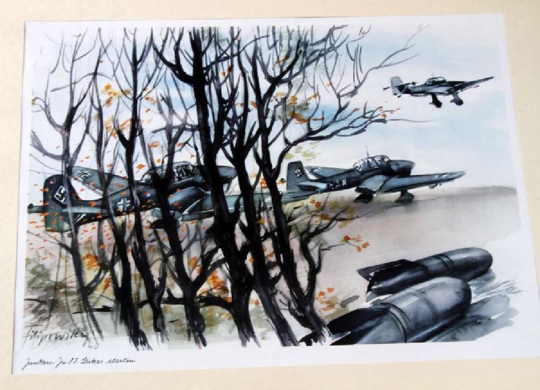 WWII JUNKERS KUNSTBLATTER SUPERB AIRCRAFT PRINTS - 8